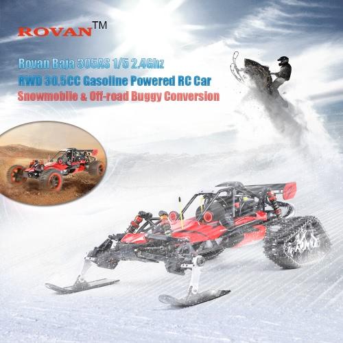 Buy Original Rovan Baja 305AS 1/5 2.4Ghz RWD 30.5CC Gasoline Powered Snowmobile Off-road Buggy Conversion Remote Control Car