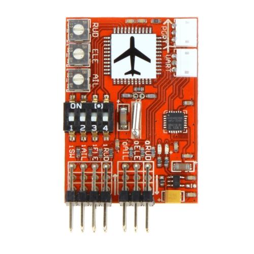 Buy JCX-M6 M6 High Precision Flight Controller Digital gyro RC Fixed-wing Airplane V-tail Model Plane FPV