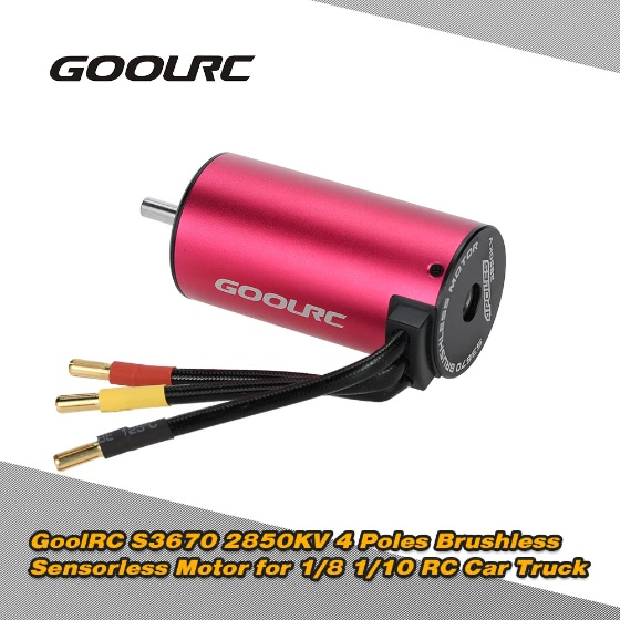 Buy Original GoolRC S3670 2850KV 4 Poles Brushless Sensorless Motor 1/8 1/10 RC Car Truck