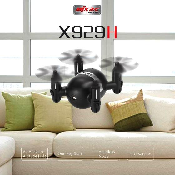 Buy Original MJX X929H 2.4G 4CH 6-Axis Gyro Mini Drone Altitude Hold Headless Mode RC Quadcopter RTF