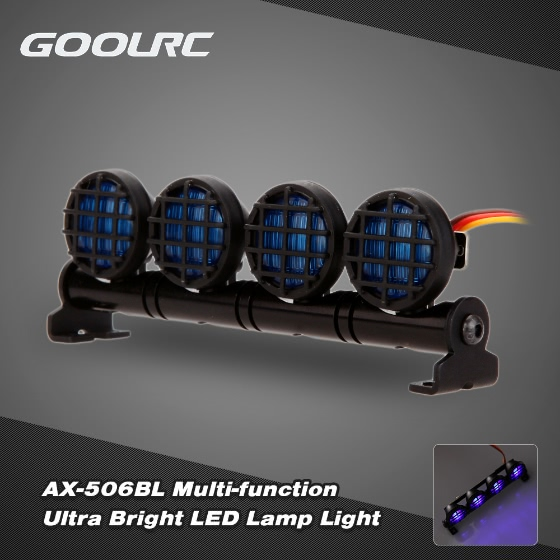 Buy Original GoolRC AX-506W Multi-function Ultra Bright LED Lamp Light 1/8 1/10 HSP Traxxas TAMIYA CC01 4WD Axial SCX10 Monster Truck Short Course RC Car