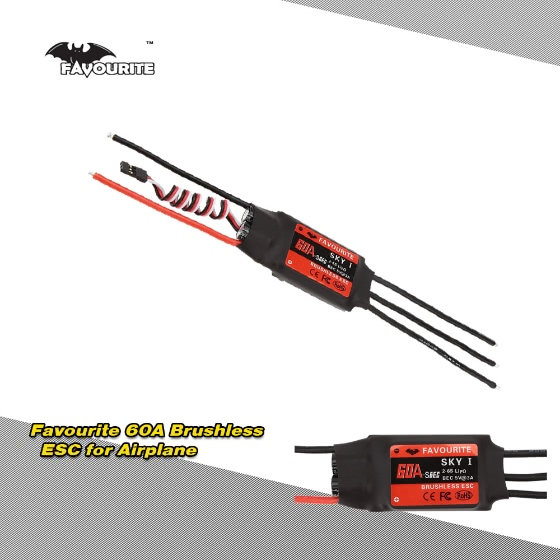 Buy Favourite SKYI series 60A 2~6S LiPo Battery Brushless Motor Electronic Speed Controller ESC 5V/5A Switch Mode SBEC RC Fixed Wing Airplane