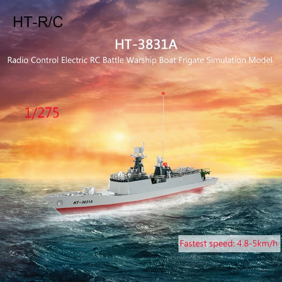 Buy Original HT-3831A 1/275 Radio Control Electric RC Battle Warship Boat Frigate Simulation Model