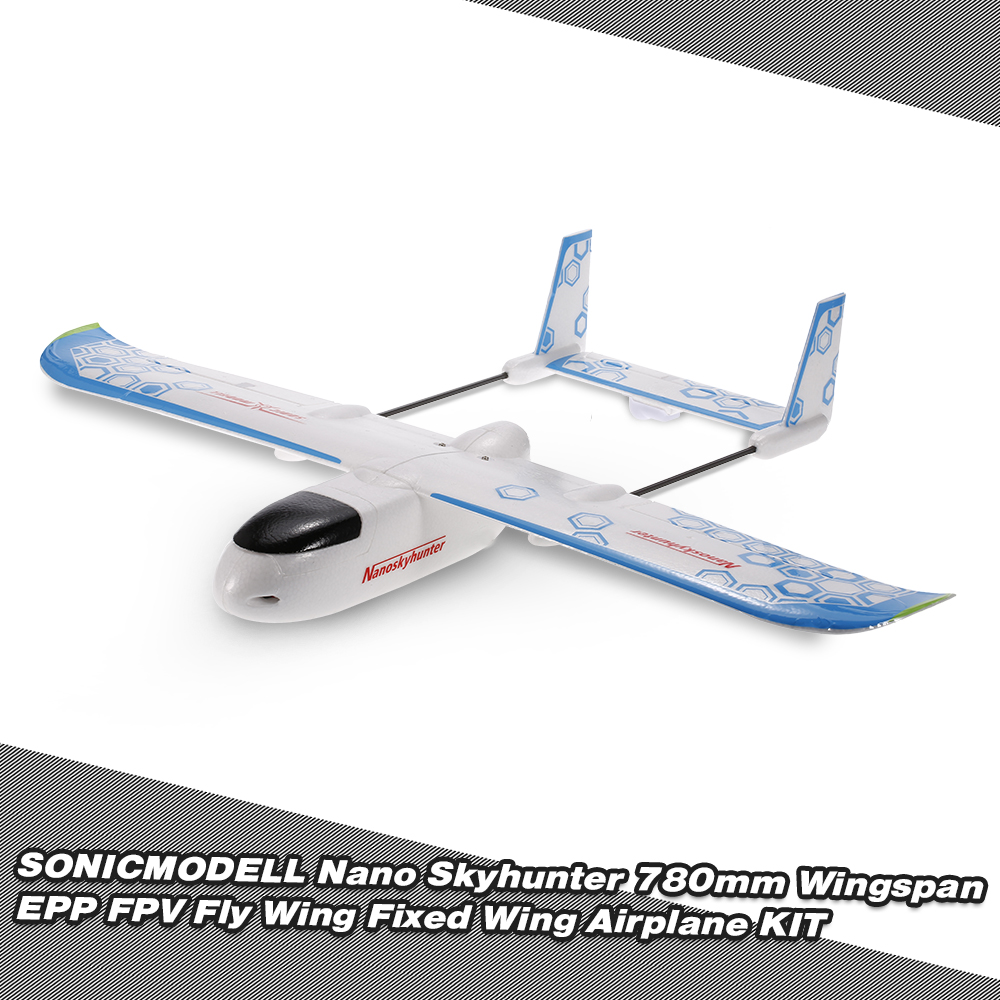 SONICMODELL Nano Skyhunter 780mm Wingspan EPO FPV Fly Wing Fixed Wing Airplane for $40.99