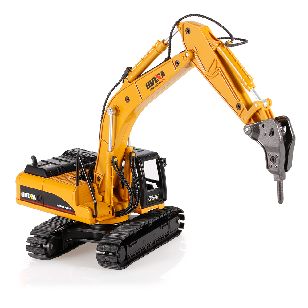 1 hui na toys 1711 1 50 drill excavator engineering vehicle with alloy breaking hammer kids toy. Black Bedroom Furniture Sets. Home Design Ideas
