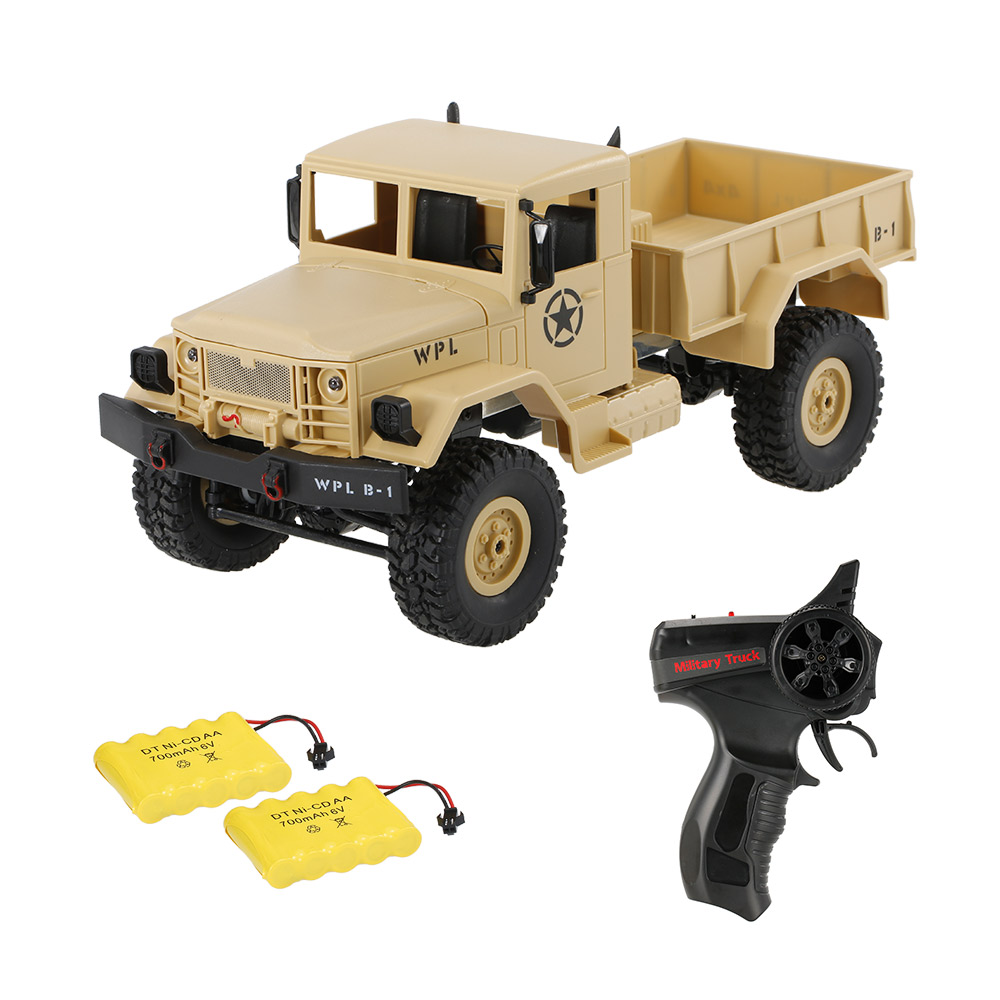 Only $39.99 For WPL B-1 1/16 RC Military Truck with code EJRM908