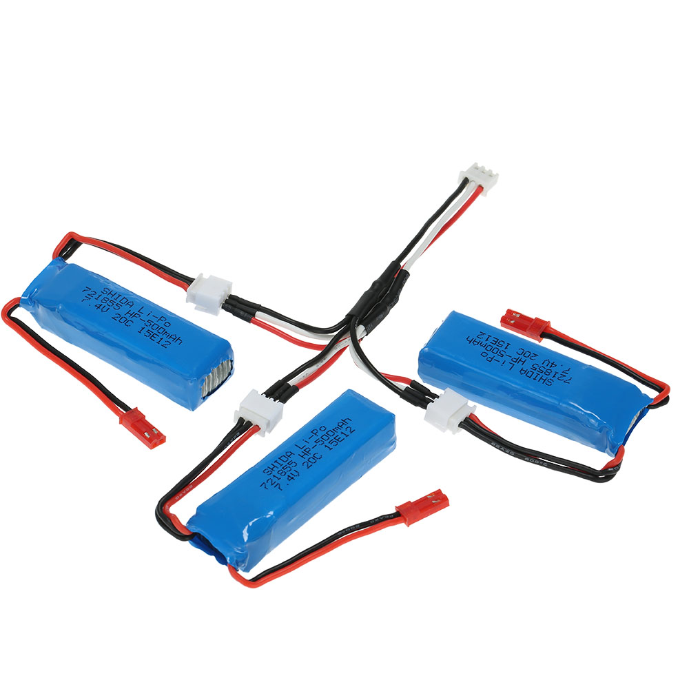 3pcs 7 4v 500mah 20c lipo batterie avec c ble de connexion. Black Bedroom Furniture Sets. Home Design Ideas