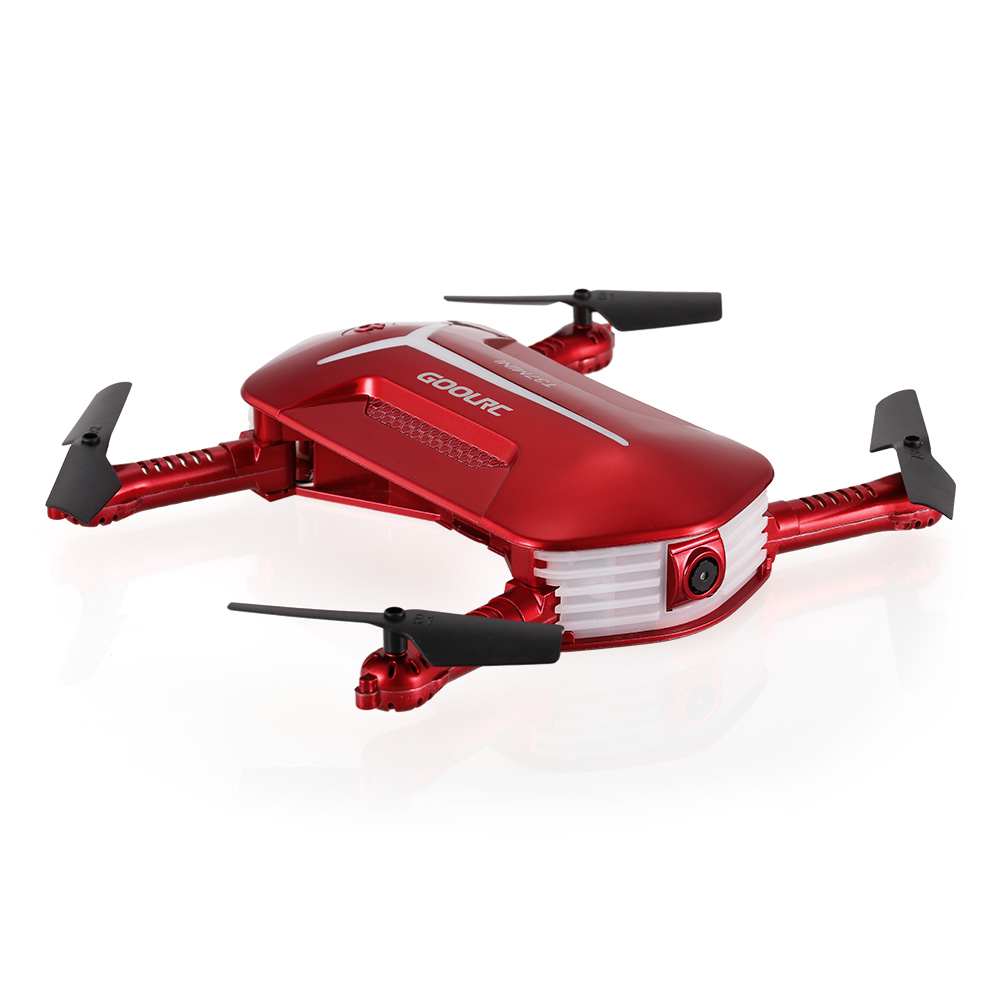 Get 6$ off  GoolRC T37 Mini 6-Axis Gyro WIFI FPV 720P HD Foldable G-sensor RC Selfie Pocket Drone for $29.99