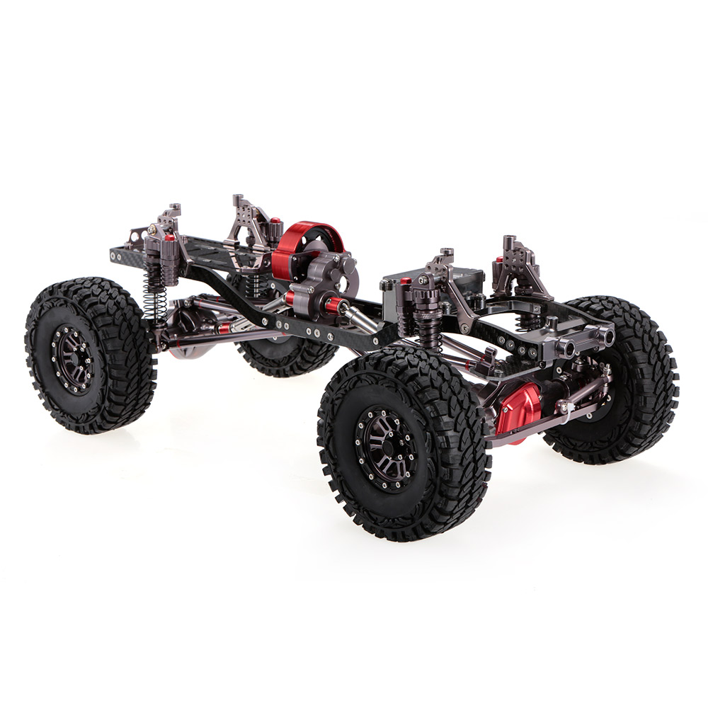 Get 14.99$ for 1/10 Cool Racing CNC Aluminum and Carbon Frame AXIAL SCX10 Chassis 313mm