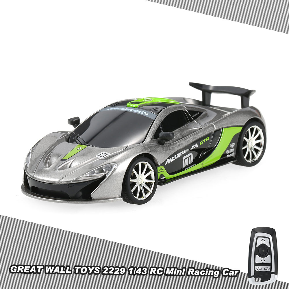 great wall toys 2229 24g 2ch 143 remote control mini racing car with simulate voice vehicle toy for kids