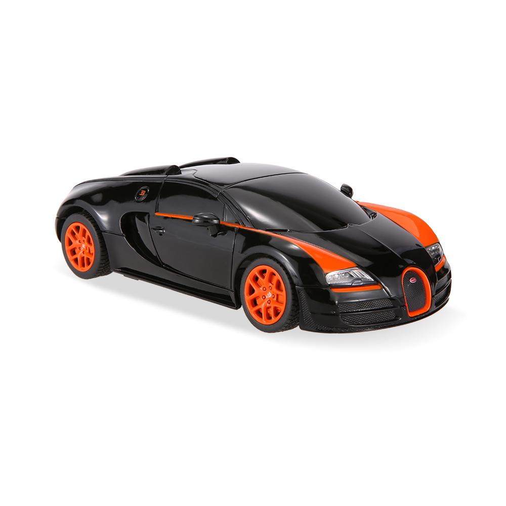 black rastar 47000 27mhz r c 1 24 bugatti grand sport vitesse radio remote control model car. Black Bedroom Furniture Sets. Home Design Ideas