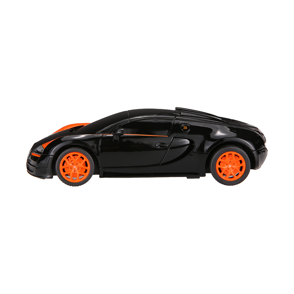 black rastar 47000 27mhz r c 1 24 bugatti grand sport vitesse radio remote control model car. Black Bedroom Furniture Sets. Home Design Ideas