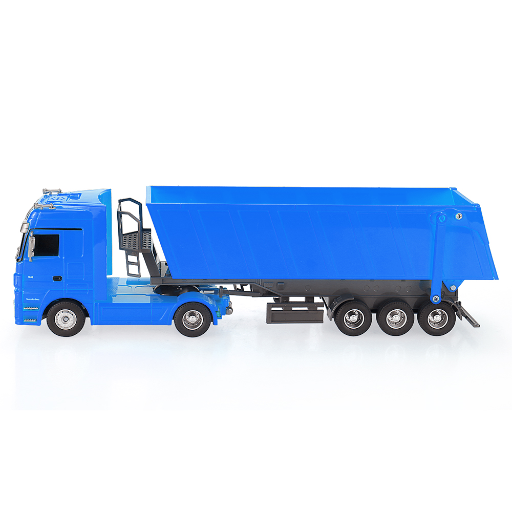 Blau ruichuang qy1101c 1 32 1 322 4g electric mercedes for Mercedes benz dump truck
