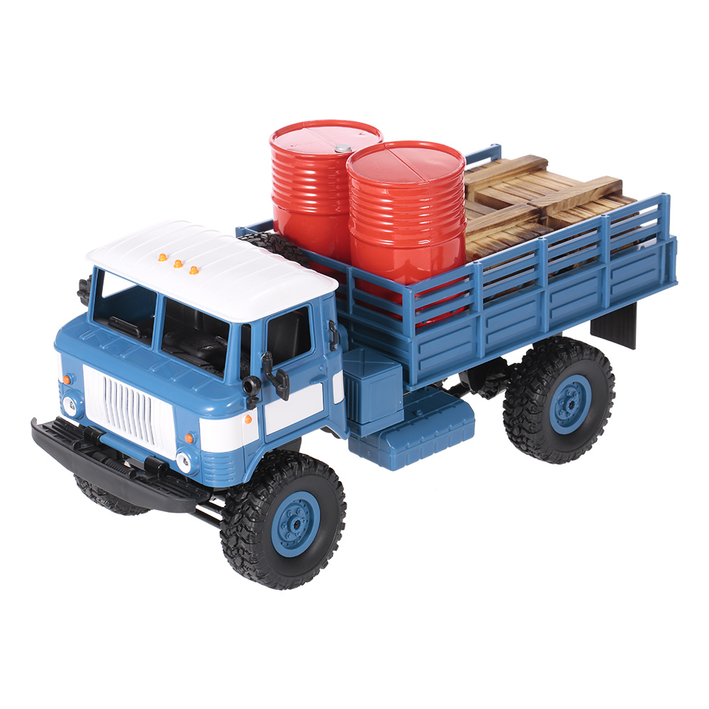 Only 35.99$ for WPL B-24 1/16 2.4GHz Military Truck RC Off-road Army Car Electric Vehicle With Light RTR Children Gift