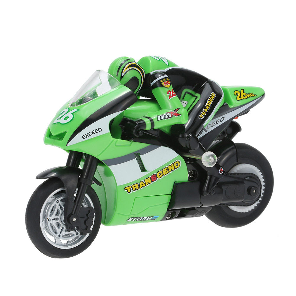 green original create toys 8012 1 20 2 4ghz rtr rc motorcycle stunt. Black Bedroom Furniture Sets. Home Design Ideas