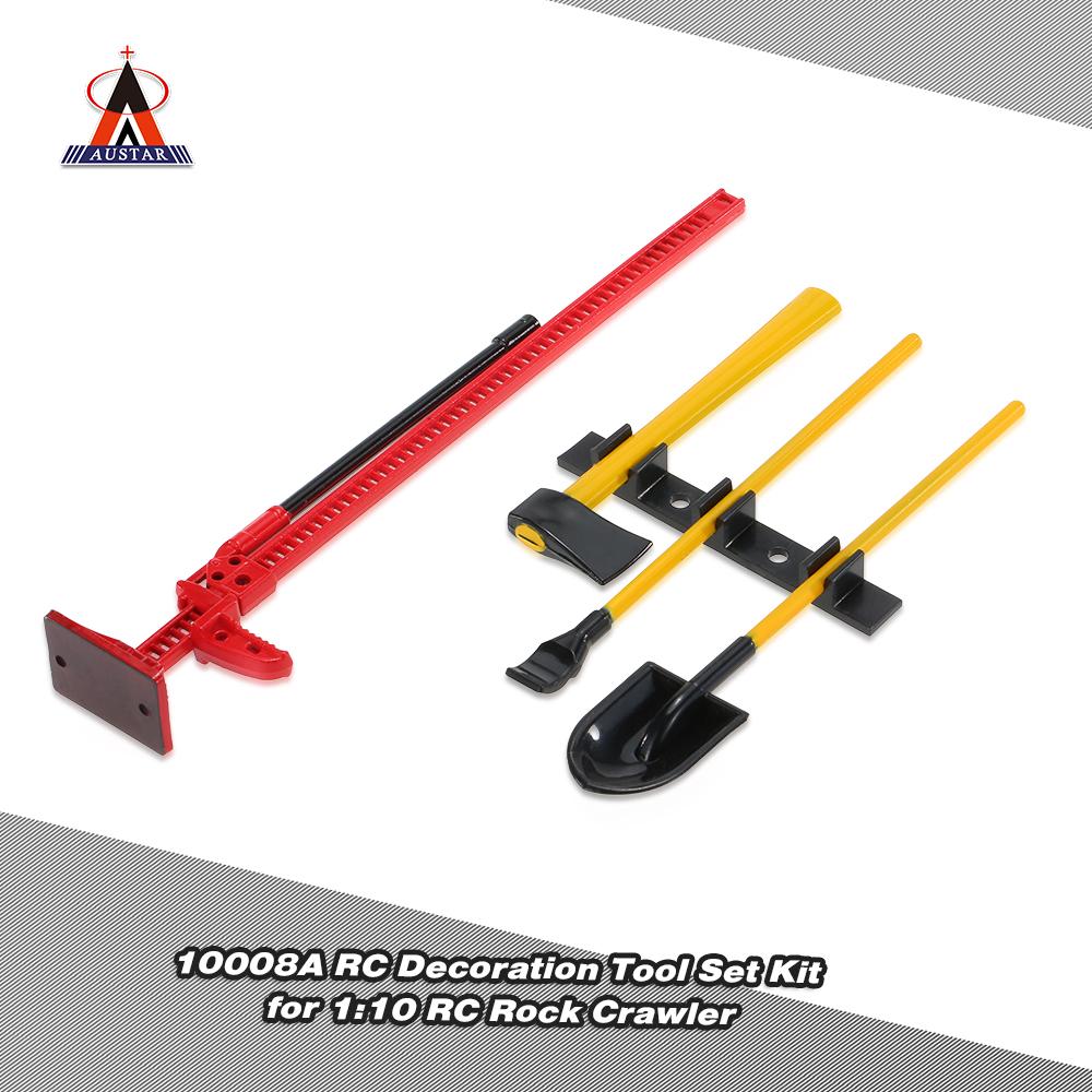 red 4pcs austar 10008a rc decoration tools set kit rc accessories for 1 10 rc rock crawler. Black Bedroom Furniture Sets. Home Design Ideas