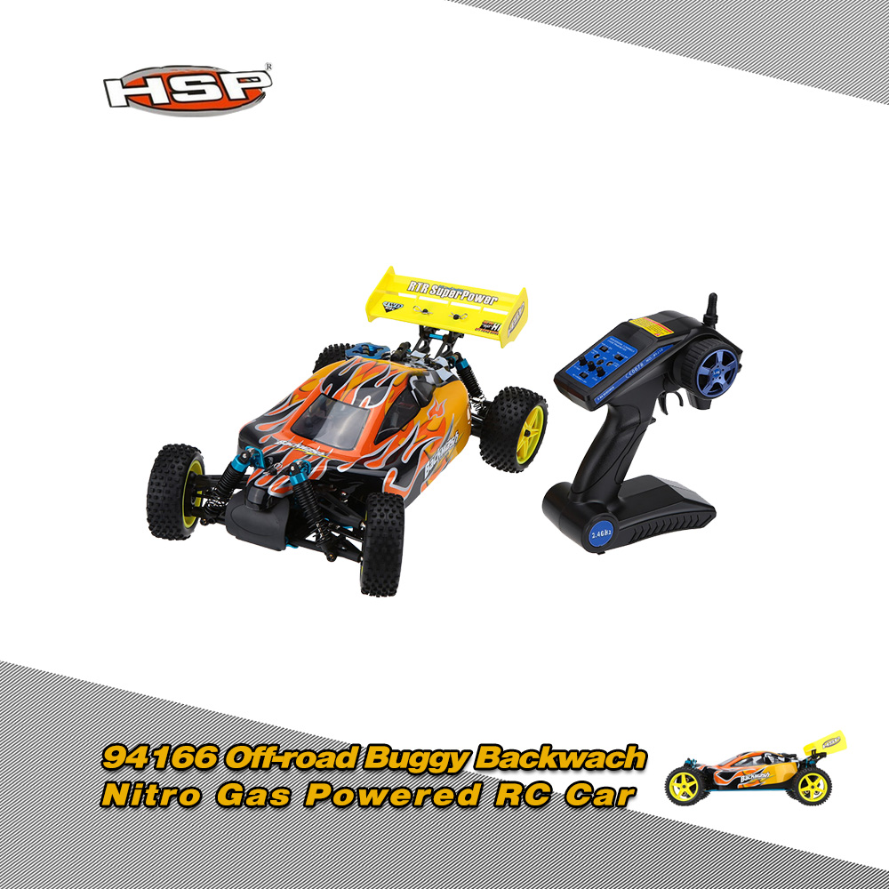 185$ for Original HSP 1/10 94166 Off-road Buggy Backwach Nitro Gas Powered 4WD RTR Remote Control Car
