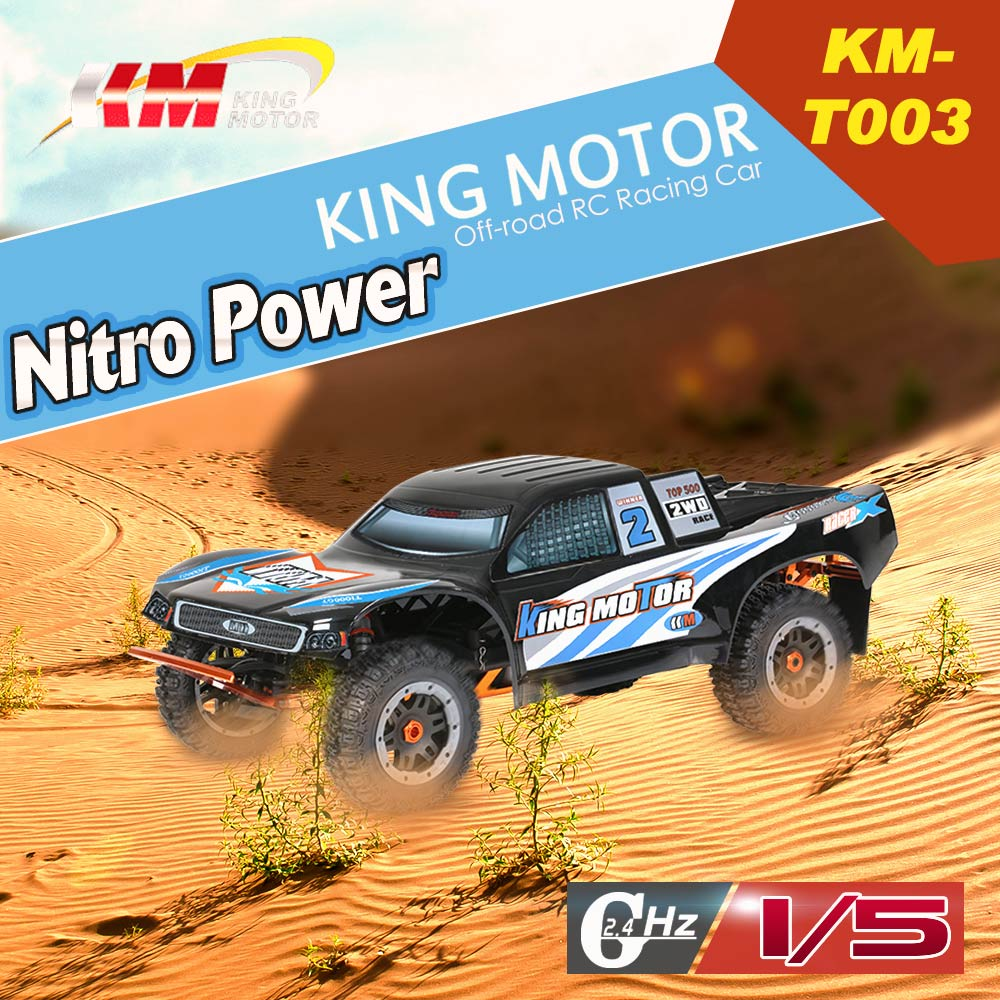 Get 103$ off  KM-T003 1/5 Baja 26CC RC Nitro Powered Off-road Racing Car with MT-3D 3-Channel 2.4G Transmitter
