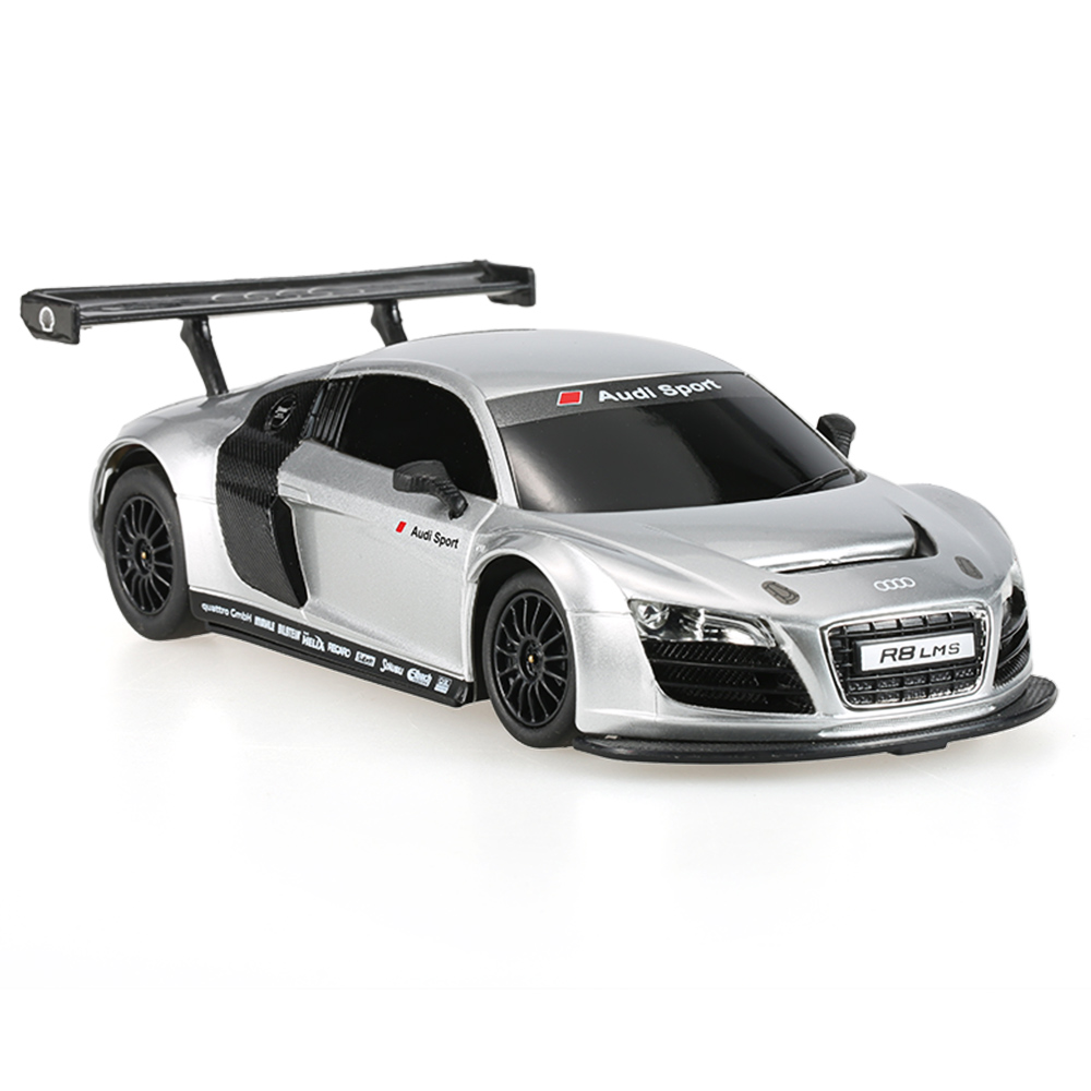 silver rastar 46800 27mhz 1 24 audi r8 lms rc super sports. Black Bedroom Furniture Sets. Home Design Ideas