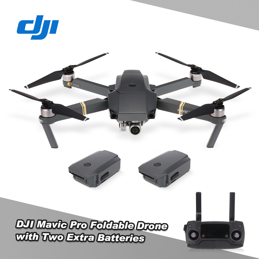 Get 230$ off  DJI Mavic Pro 4K FPV Foldable drone Combo with Two Extra Batteries Car Charger Shoulder Bag