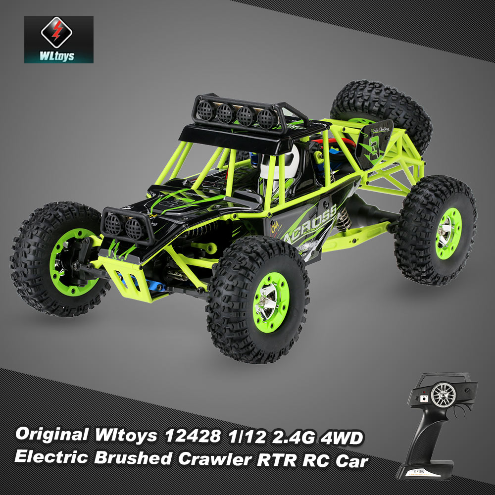 Get Extra $43 off Wltoys 12428 1/12 2.4G 4WD Electric Brushed Crawler RTR RC Car