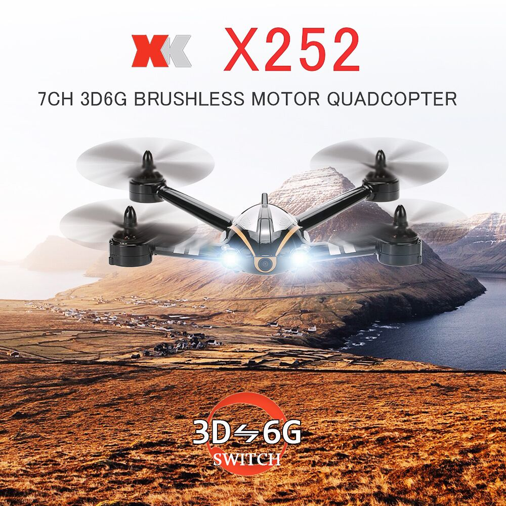 Get 20$ off Original XK X252 FPV Real-time Transmission 2.4G 7CH 5.8G 3D 6G Mode Racing Drone