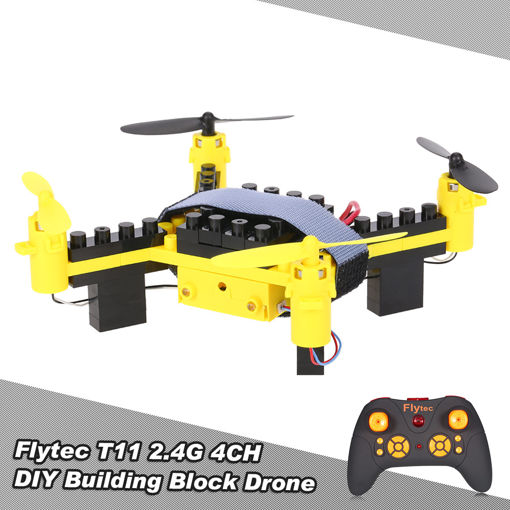 Extra $10 Off For Flytec T11 2.4G 4CH Drone 3D flip Headless Mode DIY Building Block RC Quadcopter