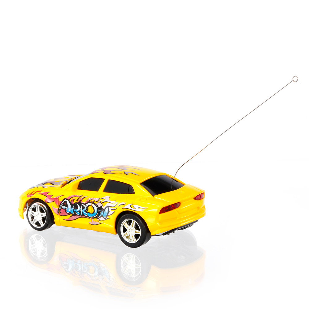 yellow great wall toys 2111 1 67 super mini rc car with magnifier sphere package collection toys. Black Bedroom Furniture Sets. Home Design Ideas