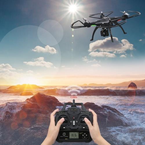 1080P Camera Drone, Каменный HS300 RC Quadcopter с широкоугольной HD-камерой с углом обзора 120 ° с 6-осевым гироскопом 2,4 ГГц с удержанием высоты, функцией возврата одной клавиши и безголовым режимом RTF Включает бонусную батарею