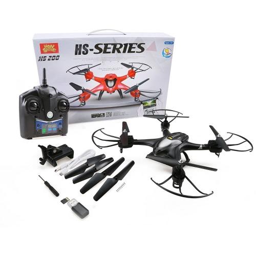 Holy Stone HS200 FPV RC Drone с HD Wifi-камерой Live Feed 2.4GHz 4CH 6-осевой гироскоп с захватом высоты, датчик силы тяжести и безгонный режим RTF Вертолет, цвет черный