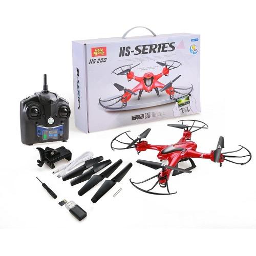 Holy Stone HS200 FPV RC Drone с HD Wifi-камерой Live Feed 2.4GHz 4CH 6-осевой гироскоп с высоким удержанием, датчик силы тяжести и безгонный режим Вертолет RTF, цветной красный