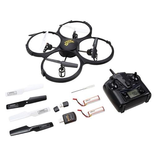 Drone с HD-камерой, Quad Stone RC Quadron с HD-камерой без наушников, с функцией возврата на один ключ и с низким напряжением Включает бонус-батарею