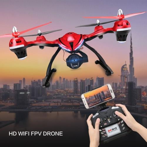FPV Drone с регулируемой HD-камерой, Quad Stone HS400 RC Quadcopter с удержанием высоты, функция возврата с одним ключом и безголовым режимом включает бонусную батарею