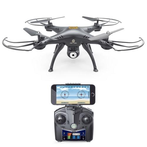 Holy Stone HS120 Wifi FPV Drone с регулируемой HD-камерой Live Video RC Quadcopter с поддержкой высоты, контролем приложений и 3D-гарнитурой VR, RTF Легко летать для начинающих и экспертов, цвет черный