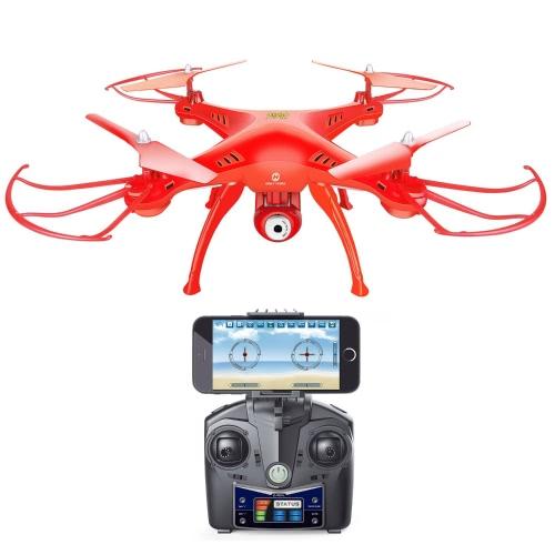 Holy Stone HS120 Wifi FPV Drone с регулируемой HD-камерой Live Video RC Quadcopter с поддержкой высоты, поддержкой приложений и 3D-гарнитурой VR, RTF Easy to Fly для начинающих и экспертов, цветной красный