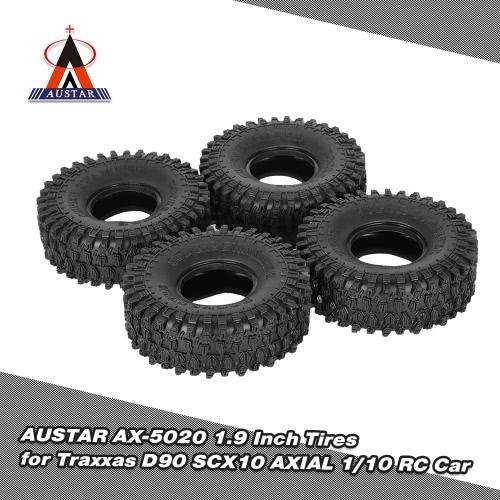 4Pcs AUSTAR AX-5020 1.9 Inch 120mm Rock Crawler Tires for 1/10 Traxxas  Redcat SCX10 AXIAL RC4WD TF2 RC Car