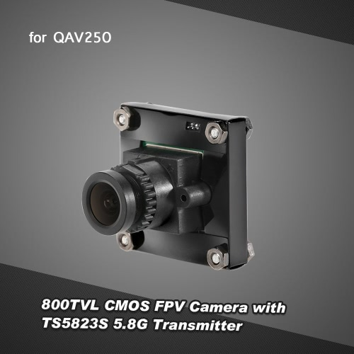 800TVL CMOS FPV Camera PAL System with TS5823S 5.8G 200mW 40CH AV Transmitter Combo Set for QAV250 FPV Racing Drone RC Quadcopter