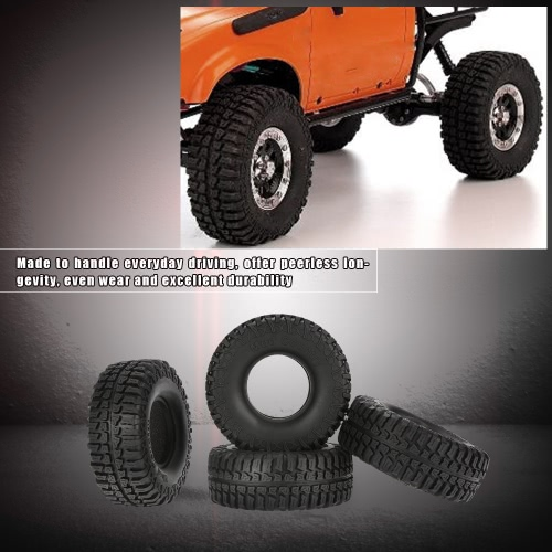 "4Pcs Austar 1.9"" 100mm 1/10 Scale Tires for 1/10 RC4WD D90 Axial SCX10 RC Rock Crawler"