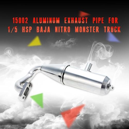 15002 Aluminum Exhaust Pipe for 1/5 HSP Baja Nitro Monster Truck