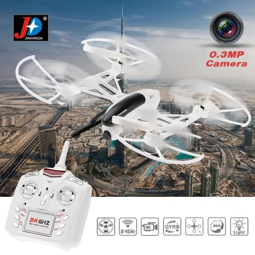 JXD 509V 2.4G 4CH 6-Axis Gyro RC Quadcopter with 0.3MP Camera 360 Degree Flips CF Mode One Key Return