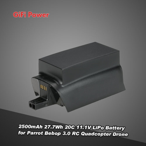 GiFi Power 2500mAh 27.7Wh 20C 11.1V LiPo Battery for Parrot Bebop 3.0 RC Quadcopter Drone