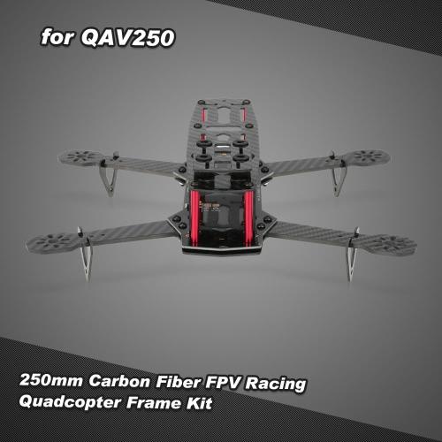 250mm Carbon Fiber FPV Racing Quadcopter Frame Kit with PDB LED Lights for QAV250 ZMR250