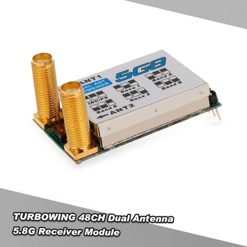 Turbowing Dual Antenna 5.8G 32CH Raceband Receiver Module for FATSHARK FPV Goggles