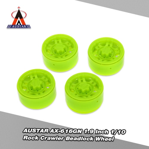 4Pcs AUSTAR AX-616GN 1.9 Inch 1/10 Rock Crawler Beadlock Wheel Rim Hub for D90 SCX10 AXIAL RC4WD TF2 RC Car