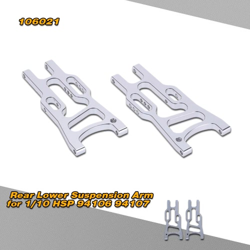 106021 Upgrade Parts Aluminum Rear Lower Suspension Arm for 1/10 HSP 94106 94107 Off-road Buggy