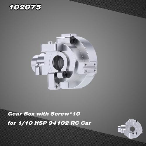 102075 Upgrade Part Aluminum Alloy Gear Box for 1/10 HSP RC Car 94102 Nitro Powered On-Road Touring Car 94110 Nitro Powered Off-Road Truggy