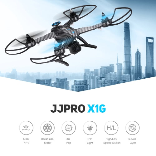 Original JJRC JJPRO X1G 2.4G 4CH 6-Axis 5.8G FPV RC Quadcopter with Brushless Motor RTF Drone