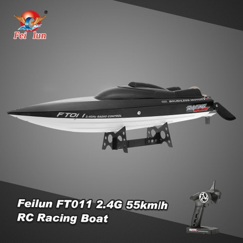 Original Feilun FT011 2.4G 55km/h High Speed RC Racing Boat with Water Cooling Flipped Self-righting Function
