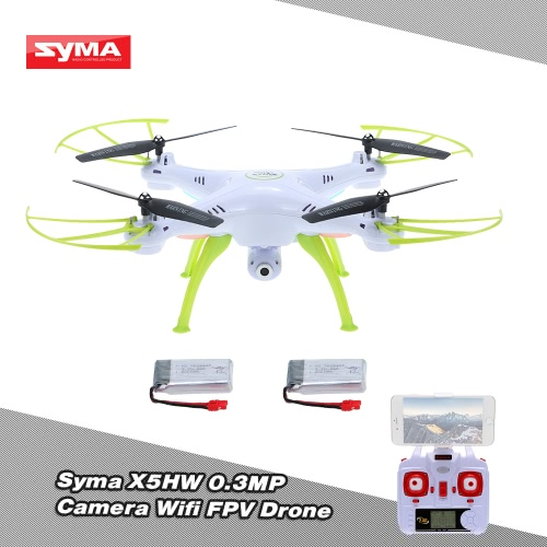 SYMA X5HW 0.3MP Camera Wifi FPV Drone Height Hold CF Mode RC Quadcopter with One Extra Battery RTF