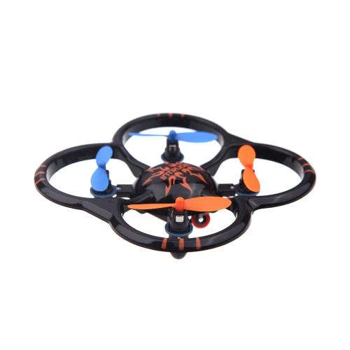 U207 6 Axis Gyro 4CH Radio Controll mini Black Quadcopter UFO Toys w/ LED Lights (UFO Quadcopter;mini Quadcopter Toys;6 Axis Gyro 4CH Radio Control Toys)
